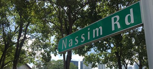 Les Maisons Nassim Road sign post
